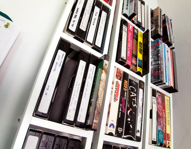 <p>McLean keeps a &quot;sample stash&quot; of VHS Tapes in her studio for the montages she makes. &quot;I do a ton of appropriated stuff, so I always have tons of tapes,&quot; she tells Trigg.</p>