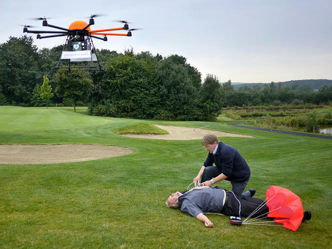 <p>A non-profit from Germany is working with a technology company to bring a drone-powered defibrillator to the air.</p>