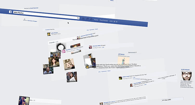 <p>The Facehawk scrapes your Facebook profile and animates the shards into a 3-D hawk shape.</p>
