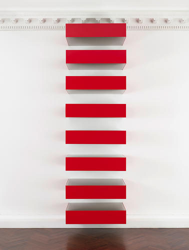<p>Evocative of rungs on a ladder, skyscrapers, or piano keys, these elegant explorations of volume, space, and color serve as the minimalist master's best-known legacy.</p>