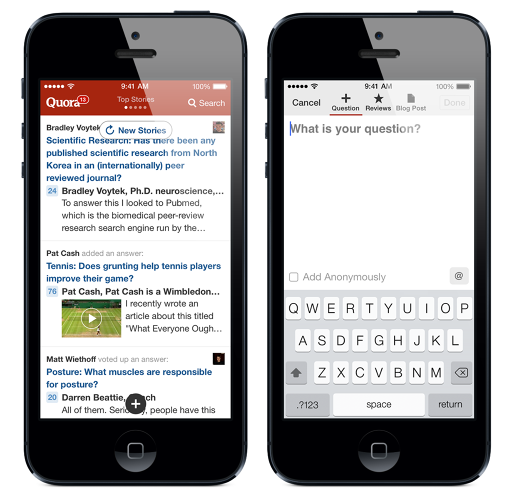 <p>Timed to iOS 7's release, Quora debuted a fresh app for the iPhone. &quot;We threw away the old code and designed the new app from the ground up,&quot; said Quora's Marc Bodnick, who oversees oversees product marketing, site governance, community, and business operations.</p>