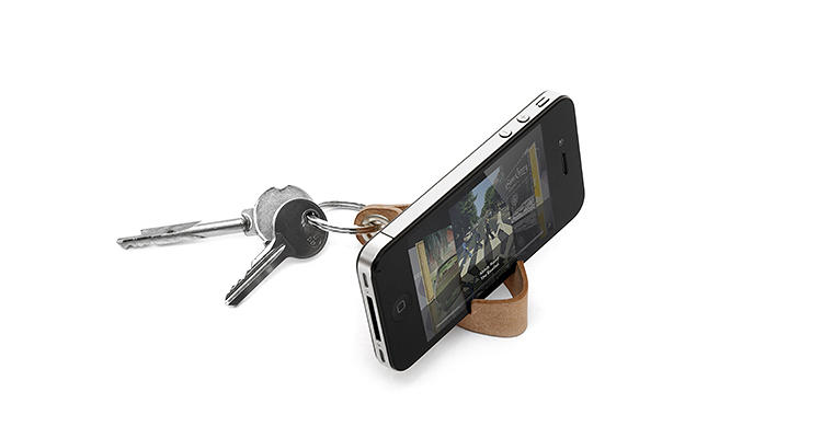 <p>The Keyring's footprint is a minimal one: it's just a small piece of leather, and one less plastic iPhone dock.</p>