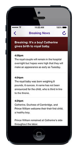 <p>Yahoo's iPhone app has been updated to include breaking news.</p>