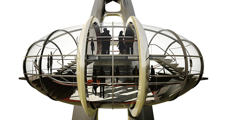 <p>UNStudio focused on the design of the capsules and the platform.</p>