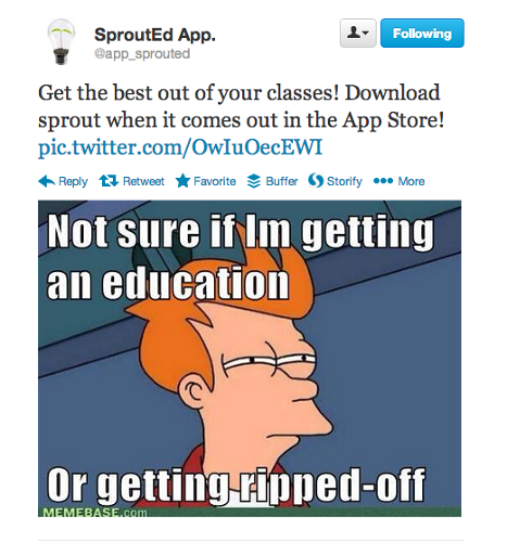 <p>The teams are on Twitter, and are utilizing memes to spread the word about their apps.</p>