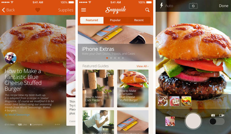 <p>New and improved for iOS7, Snapguide gives its users a library of how-to guides. Learn how to cook cheeseburgers, build a shelf, dress for the fall, and more.</p>