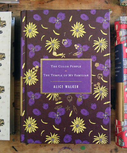 <p>Cover to Alice Walker's <em>The Color Purple</em> and <em>The Temple of my Familiar</em></p>