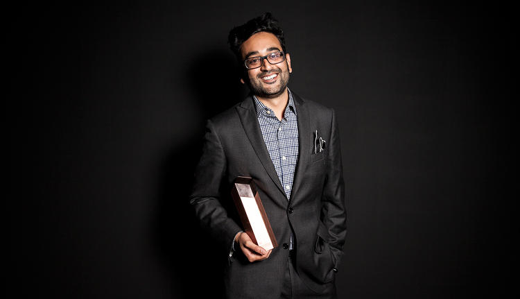<p>Shalin Amin, lead designer of Uber, winner in the transportation category.</p>