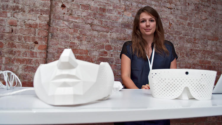 <p>Edios augmented reality headgear, a finalist in the student design category.</p>