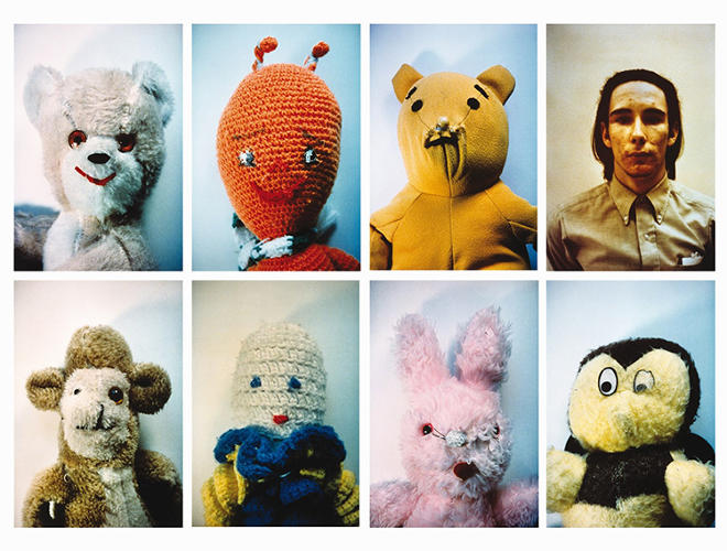 <p>MoMA PS1 presents Mike Kelley: A Retrospective, the largest-ever exhibition of the late artist's work. Here, Kelley as pictured in the liner notes of Sonic Youth's 1992 album &quot;Dirty,&quot; alongside a selection of his bedraggled stuffed animal creations.</p>