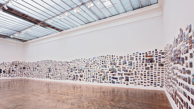 <p>View at the Corcoran Gallery of Art<br /> Ellen Harvey, 2013<br /> Postcards</p>