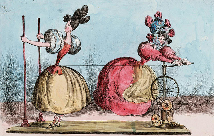 "<p>""Skirts and other loose garments can hide a multiplicity of sins--and also the various strategems used to achieve the ideal shape, such as the many petticoats, horsehair, hoops and underpinning that swelled out the crinoline ofthe late 19th century,"" writes McDowell.</p>"