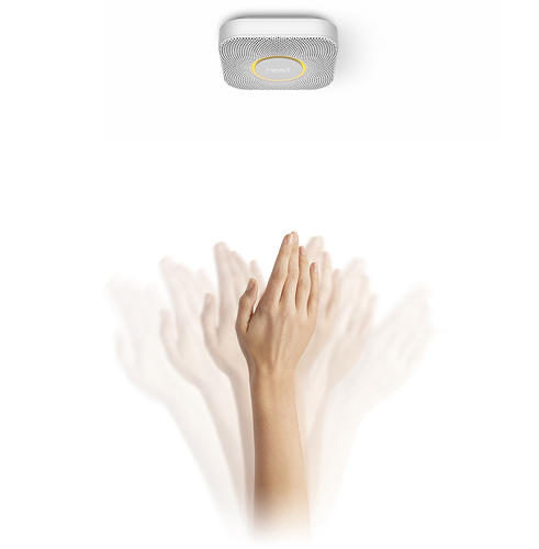<p>False alarms can be hushed by gently waving your hand a few times.</p>