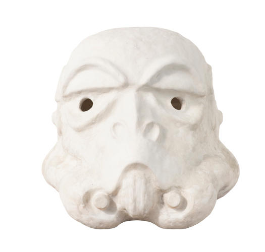 <p>Paul Fryer, 'Mud Trooper.' Acrylic Capped ABS Storm Trooper head by Paul Fryer. 2013. Signed by Paul Fryer and Andrew Ainsworth. Image: Bran Symondson</p>