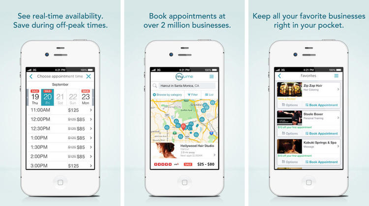 <p>MyTime allows you to book all your appointments--from haircuts to oil changes--in one place. Which leaves us asking: why hasn't somebody thought of this already?</p>