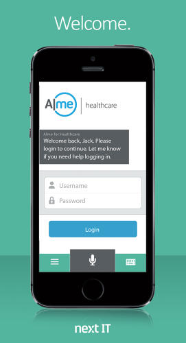 <p>Alme For Healthcare is based on a Siri-like voice-recognition feature.</p>