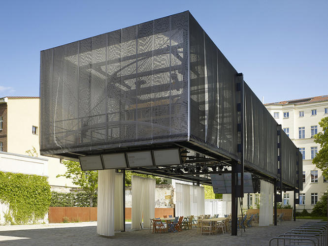 <p>The BMW Guggenheim Lab structure in Berlin.</p>