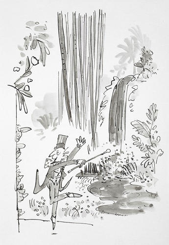 <p>Illustrations by the beloved Quentin Blake, for <em>Charlie and the Chocolate Factory</em> by Roald Dahl. Are children's books in danger of extinction in this Kindle-fied time? Curator Matthew Eve tells Co.Design, &quot;There will always be a place for them in children's lives if teachers, parents, and families keep them as firm family favorites.&quot;</p>