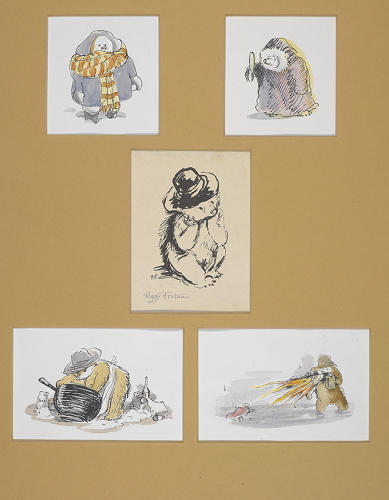 <p>A series of Paddington Bear illustrations.</p>