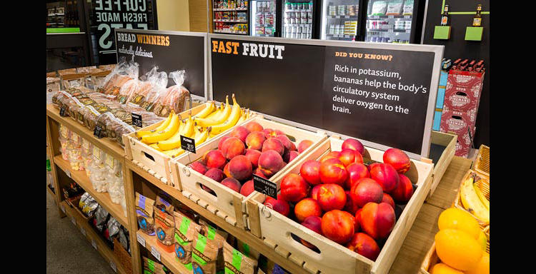 <p>The new 7-Eleven will try to get you to buy an apple instead of a garbage bag full of nachos.</p>