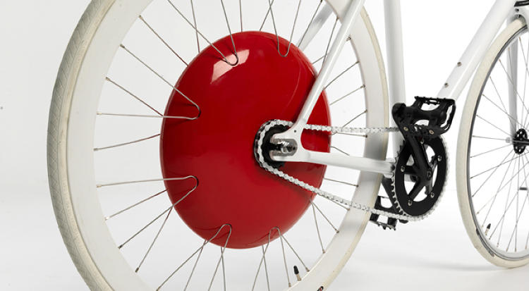 <p>The wheel can be fitted to almost any bike, and it has a power assist feature that doesn't require any work on the part of the rider (the wheel is automatically controlled by sensors in the pedals).</p>