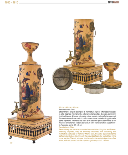 <p>Rare machines from the U.K. and France from 1800-1810, decorated with floral lacquering motifs.</p>