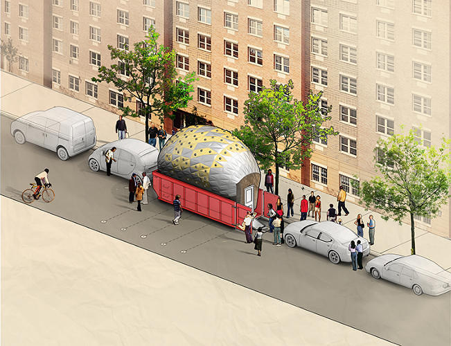 <p>Meet the Inflato Dumpster, New York's next great public space(s).</p>