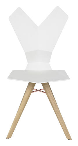 <p>That may be true, but thanks to the hourglass figure and rabbit-eared back rest, the chair says Playboy Bunny more than it does &quot;conference room.&quot;</p>