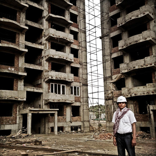 <p>An engineer, manager of an Afghan  government construction project in Kabul. The apartments, which are reserved for government employees, are sold well below market value. So unlike many housing projects, the apartment units were completely sold, even before the project was completed.</p>