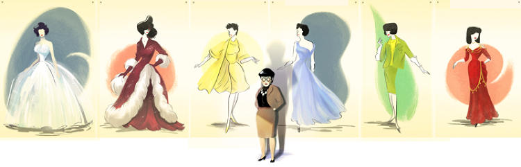 <p>The latest Google Doodle pays homage to legendary costume designer Edith Head, who would have been 116 today. She still holds the record for most Oscars won by a woman (eight).</p>