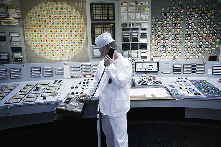 <p>Up to 3,800 people still work at the Chernobyl plant, &quot;not doing very much.&quot;</p>