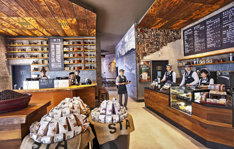 <p>The coffee tribute store in the Kerry Centre is meant to introduce home brewing methods to a well-traveled, affluent demographic.</p>