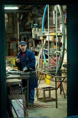 <p>All of the rides came out of Bruno's metalwork shop, where he continues to work to this day.</p>