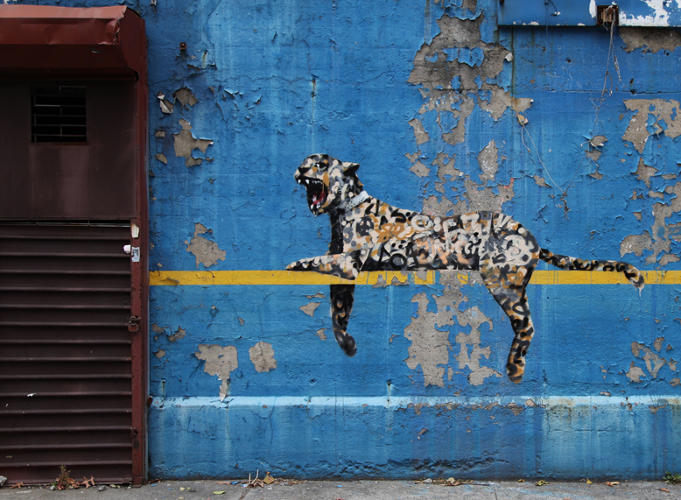 <p>This graffiti-skinned panther went up outside the Yankee stadium on October 30.</p>  <p>[<em>Image: <a href=&quot;http://www.banksy.co.uk&quot; target=&quot;_blank&quot;>Banksy</em></a>]</p>