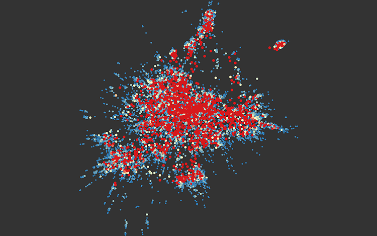 <p>This is redditviz, a map of reddit's subreddits.</p>