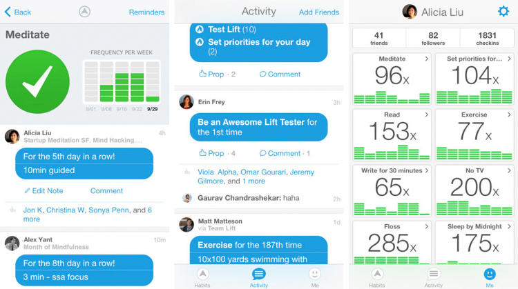 <p>If you're doing too much at one time, you're not going to have the time to properly visualize what you're doing. Lift lets users create, track, and analyze personal habits and goals--perfect for some reflection and inspiration. (<a href=&quot;http://itunes.apple.com/app/lift/id530911645?mt=8&amp;ign-mpt=uo%3D4&quot; target=&quot;_blank&quot;>iOS</a> and <a href=&quot;https://lift.do/&quot; target=&quot;_blank&quot;>web</a>)</p>