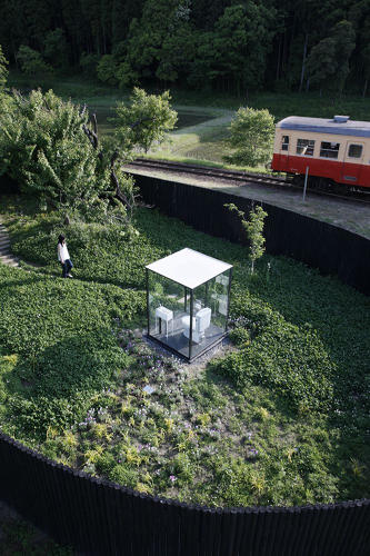 <p>Like the other projects in this slideshow, Fujimoto's glassy toilet was designed to draw attention, eyeballs, and most important, visitors. A look-at-me outhouse like this one is a good way of to boost tourism.</p>