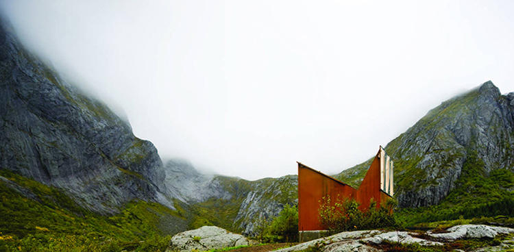 <p>Projects such as the rest stop Akkarvikodden in Norway, by <a href=&quot;http://www.mantheykula.no/&quot; target=&quot;_blank&quot;>Manthey Kula Architects</a>, have claimed new ground for the lowly public toilet.</p>  <p>The structure's rusting steel both distinguish it from and make it a part of the landscape--the grassy boulders and thick fog of a town called Lofoton--while generous windows let in plenty of light.</p>