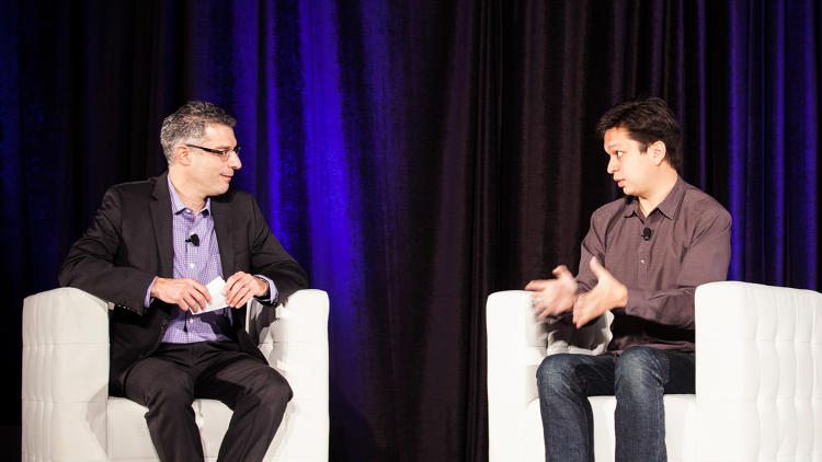 <p><em>Fast Company</em> Editor Bob Safian with <a href=&quot;http://www.fastcodesign.com/1670681/ben-silbermann-pinterest&quot; target=&quot;_self&quot;>Pinterest cofounder and CEO Ben Silbermann</a>. Asked what keeps him up at night, Silbermann said &quot;fear of losing touch&quot; with the people who love Pinterest.</p>