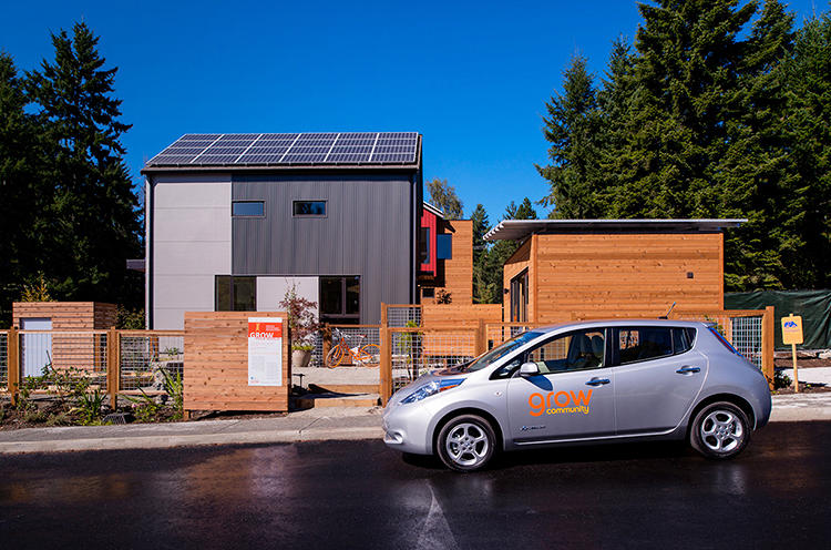 <p>Grow Community is not the first place to have net zero energy homes, community gardens, car sharing, or any of its other features, but it's the first community to have all of those features, by design, from its inception.</p>