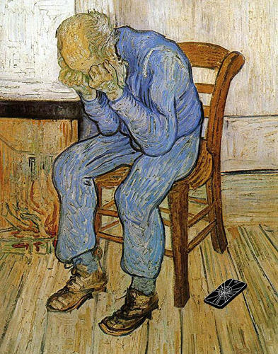 "<p>""Old Man In Sorrow"" by Vincent van Gogh</p>"