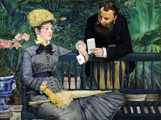 "<p>""In the Conservatory"" by Edouard Manet</p>"