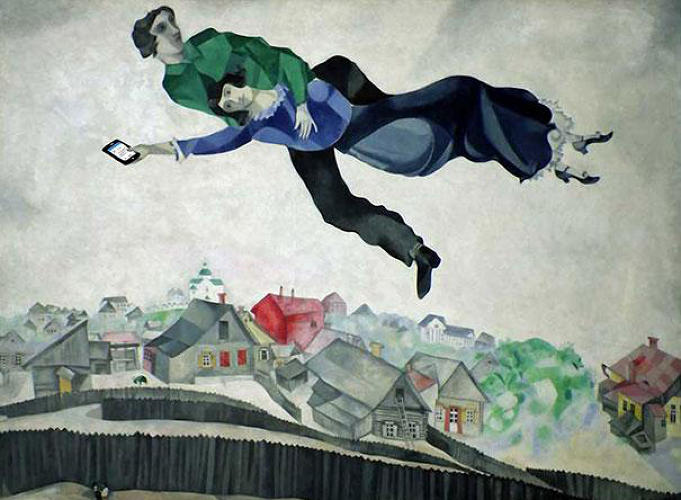 "<p>""Over the Town"" by Marc Chagall</p>"