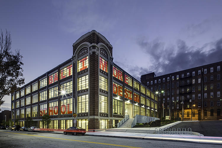 <p>This 110,000-square-foot former clothing factory opened this fall as the home of the Baltimore Design School after a $26.85 million overhaul.</p>
