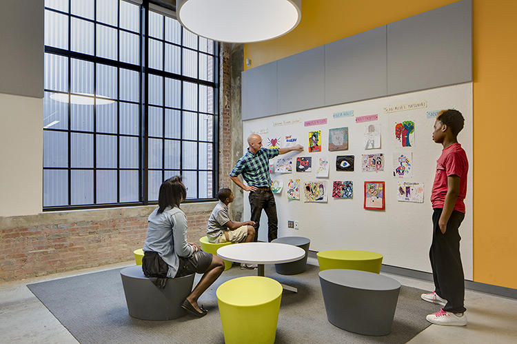 <p>Design thinking is integrated into the school curriculum.</p>