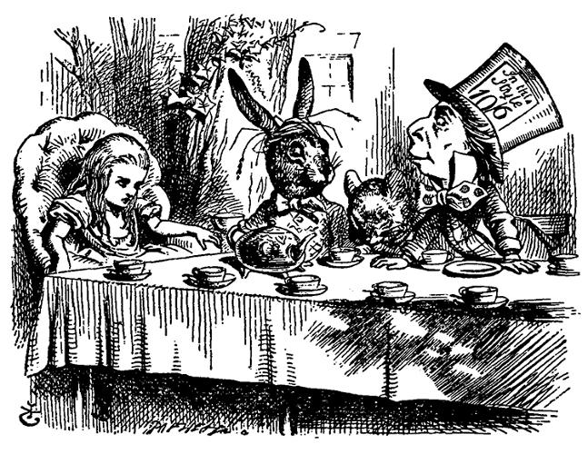 <p>A recreation of the Mad Hatter's Tea Party reveals that hatters in the 1800s often really did go mad, due to their constant exposure to mercuric nitrate, which was used to turn fur into felt.</p>