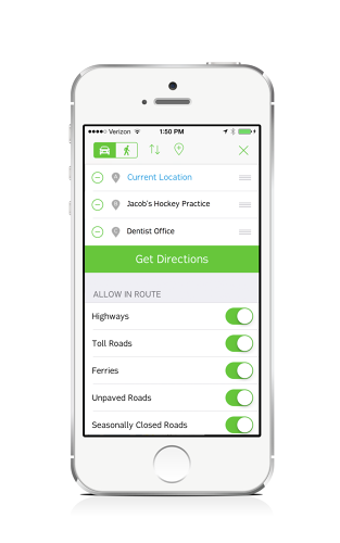 <p>Users can save locations to quickly navigate home, work, or somewhere else.</p>