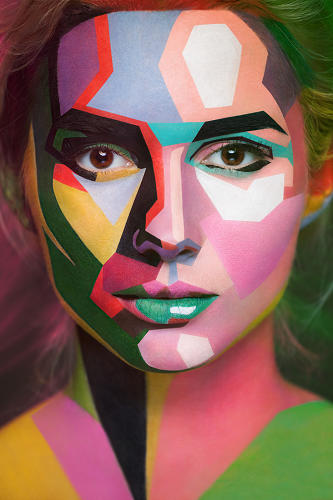 <p>The facepainting of Russian makeup artist Valeriya Kutsan is breathtaking stuff.</p>