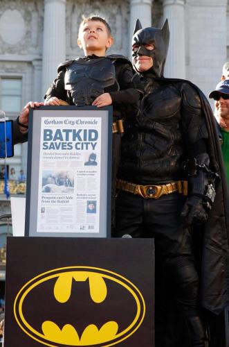 <p>Miles, age 5, barreled into public consciousness as a Make-a-Wish Foundation grantee who recently finished chemotherapy treatments for leukemia. His &quot;wish&quot; to be Batman went truly viral.</p>