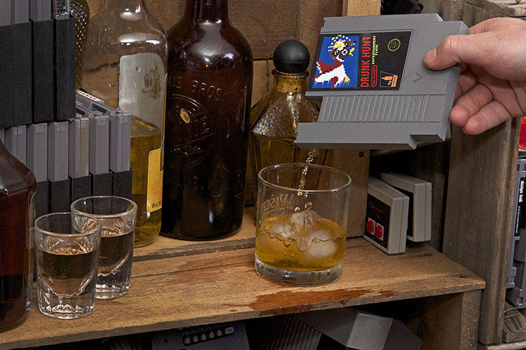 <p>Videogame-addicted alcoholics of the world rejoice: your two favorite things have come together in a beautiful union called the <a href=&quot;http://www.kickstarter.com/projects/inkwhiskey/ink-whiskey-concealable-entertainment-flask?ref=category&quot; target=&quot;_blank&quot;>Ink Whiskey Entertainment Flask,</a> a concealable flask designed to look exactly like classic old Nintendo game cartridges.</p>